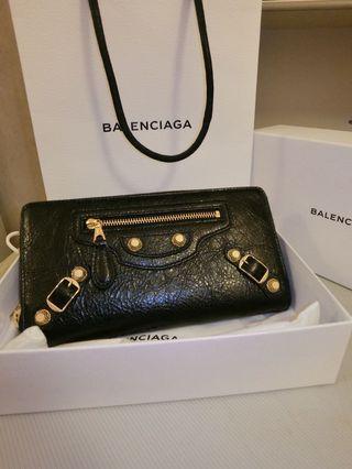 Balenciaga Wallet (Black gold)