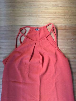 H&M halter top orange size 34