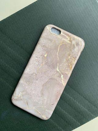 Case iPhone 6s Casing ash brown marble