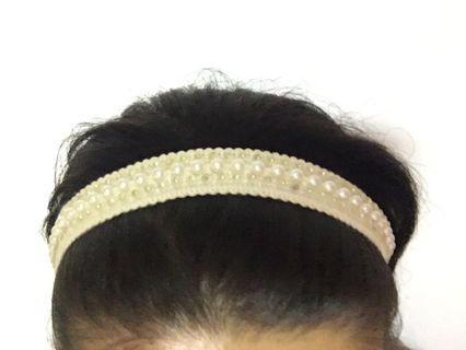Diamond White Headband