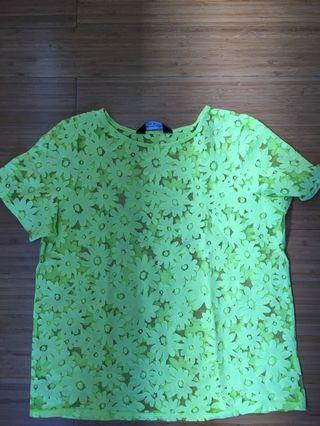 Dorothy Perkins yellow floral top size 10