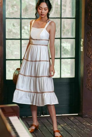 b06475fae4f ASOS Petite One Shoulder Floral Midi Dress
