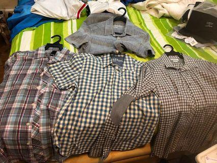 Gap and Zara and Lacoste shirts
