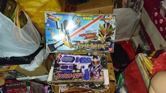 🚚 Kamen rider rare mask rider FULL Set ixa driver weapons sword blaster