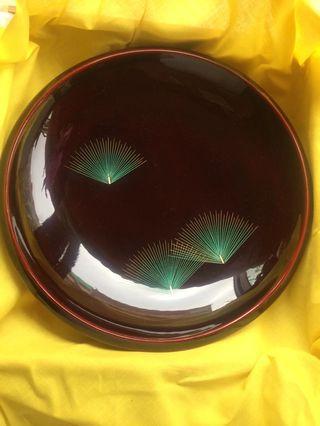日本名家扇松漆器(菓子鉢)