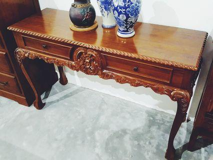 🚚 Wooden Console Table Classic Console Table with Drawer