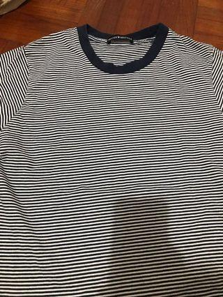 🚚 Brandy striped navy tee