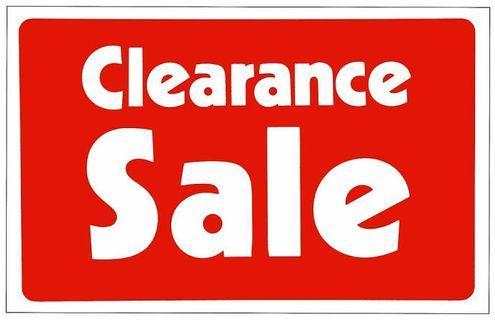 CLEARANCE SALE..!!!!