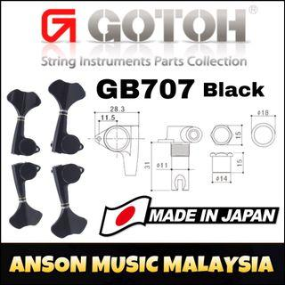 Gotoh GB707 Bass Machine Heads, Black