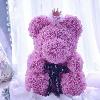 INSTOCK ROSE BEAR GIFT WITH BOX AND LIGHTS