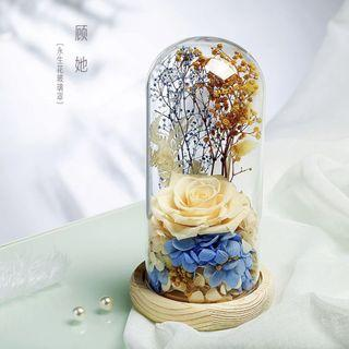 🚚 INSTOCK PRESERVED ROSE IN GLASS DOME