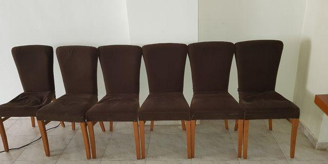 6 Dining Chairs- each for SGD 5