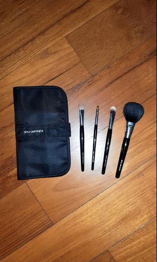 Shu Uemura Travel Brush set & pouch