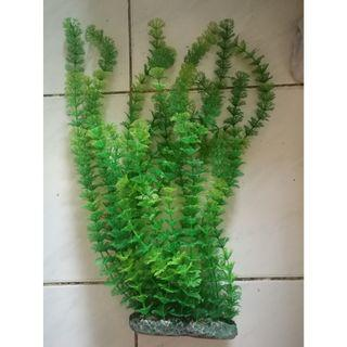 AQUARIUM FISH TANK LARGE ARTIFICIAL PLASTIC PLANT - SUPER REALISTIC - SET A