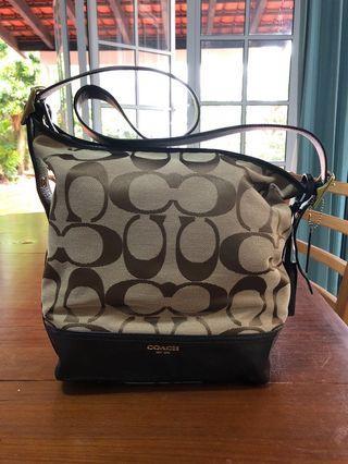 Coach Signature 21149 Legacy Hobo Handbag