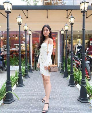 Off white sabrina dress