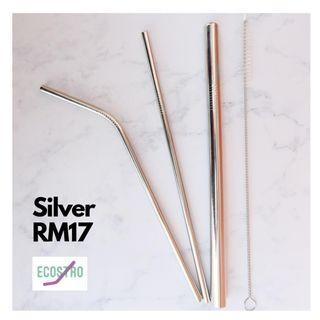 Metal straw (silver)