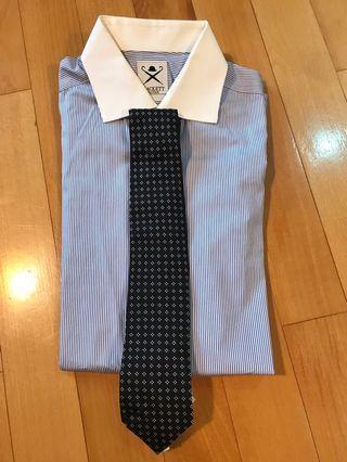 Hackett Shirt + Tie Like New 恤衫領太