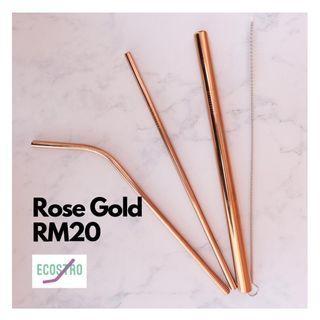 Metal straw (rose gold)