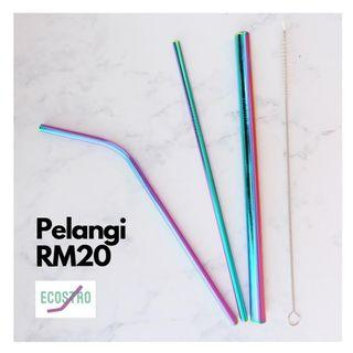 Metal straw (rainbow)