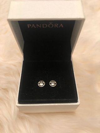 Sterling silver smile earrings