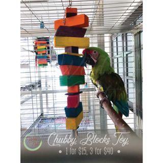 Chubby Blocks Parrot Toy