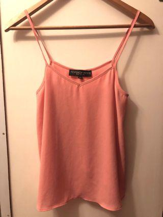 Topshop Petite Pink Cami Top, Pre-loved