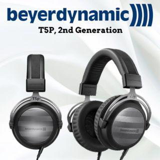 Beyerdynamic T5p 2nd Generation Tesla Audiophile Over-Ear Headphones with Dynamic Closed-Back Design