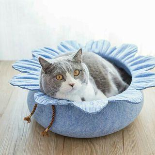 [Pre-Order] Adorable Lotus Leaf Shape Cat Bed House