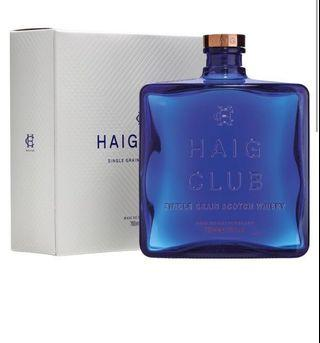 Dewar's Signature & Haig club Whiskey