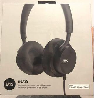 Jays U-jays black headphones