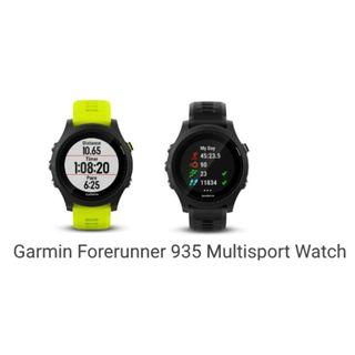 Garmin Forerunner 935 GPS Running Watch with Wrist-based Heart Rate ( Black - 010-01746-16 / Yellow - 010-01746-17 )