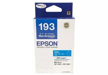 (BNIB) Epson Printer T193 Ink Cartridge (Cyan)