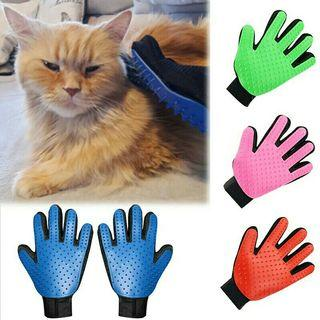 [Pre-Order] Comb Grooming Cleaning Supply Deshedding Glove For Cat Dog