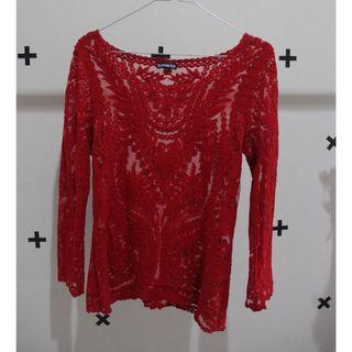 Long Sleeve Brokat top
