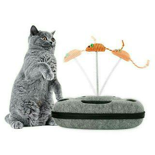 [Pre-Order] Cat Toys Interactive With Mice Amusement Disk With Ball