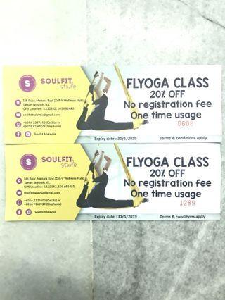 [SOULFIT Studio]FLYOGA Class 20% Off Discount Vouchers #EST50