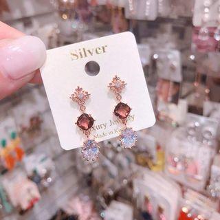 韓國水晶亮鑽耳環