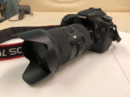 9成新 無花 Canon 70D