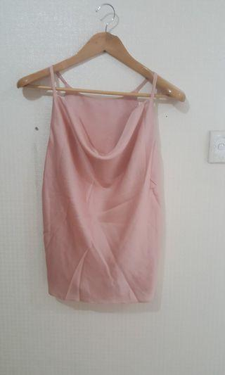 Rose Gold & Silver Silk Top