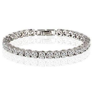 🚚 Tennis bracelet in silver with crystals