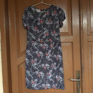 black Flower Dress Short dress