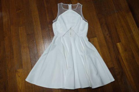 🚚 White Sleeveless Dress