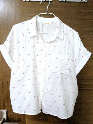 White Blouse with cherries #endgameyourexcess