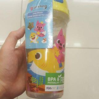 Brand new straw water bottle baby shark