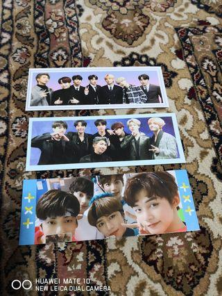BTS and TXT bookmarks