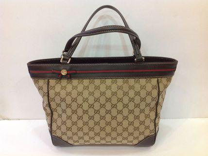GUCCI GG FABRIC TOTE BAG
