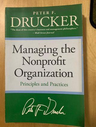 [Free Shipping]Managing the Non Profit Organization by Peter Drucker