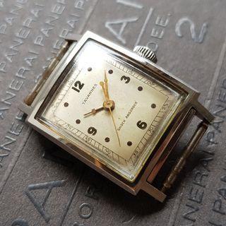 Vintage Tavannes Clamshell Tank Manual Wind Watch