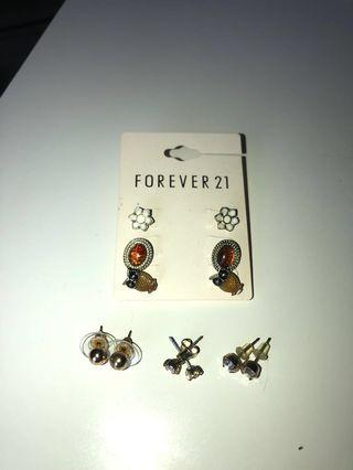 Forever21 earrings set + extra 3 pairs